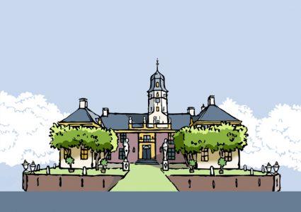borg Fraeylemaborg gemeente Slochteren