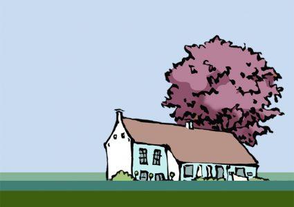 steenhuis met rode beuk gemeente Marum